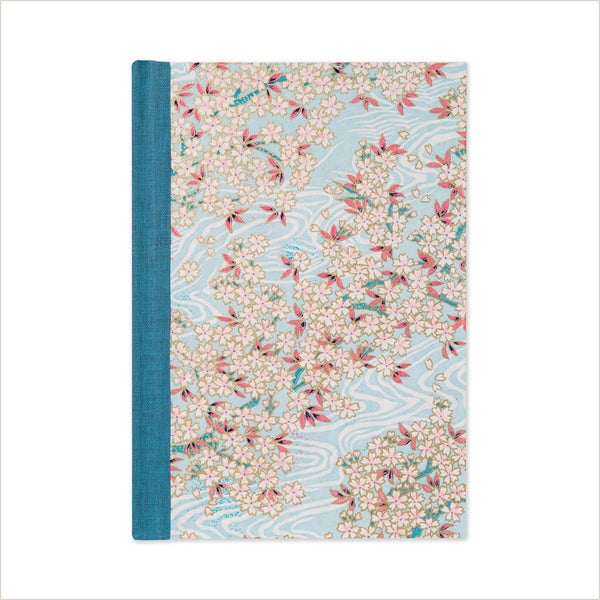 Esmie Blossom in Water Medium Lined Journal - Pomegranate Living