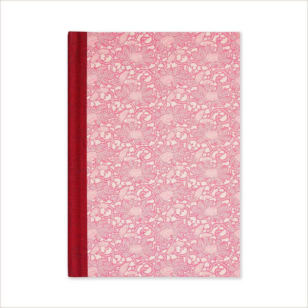Esmie Chalky Pink Anemone Medium Lined Journal - Pomegranate Living
