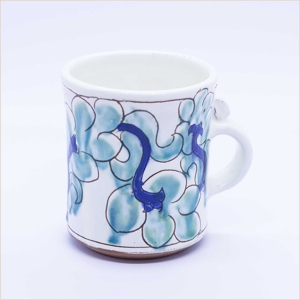 Fayoum Pottery School Mug with Abstract Leaves - Pomegranate Living