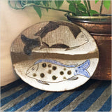 Fayoum Pottery School Platter with Fish Design - Pomegranate Living