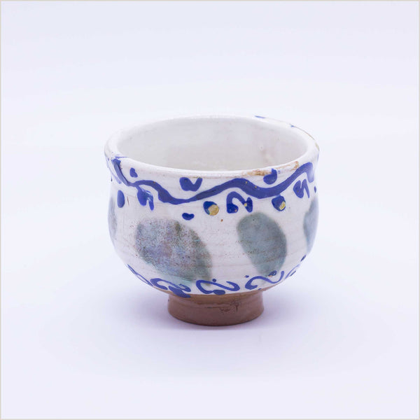 Fayoum Pottery School Small Cup with Abstract Design - Pomegranate Living