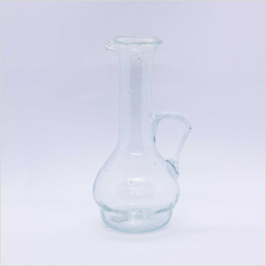 Jug with Extended Neck in Clear Glass - Pomegranate Living