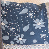 Markaz Patchwork Blue Cushion with Diamonds - Pomegranate Living