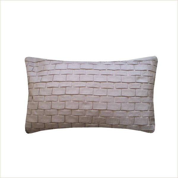 Nitin Goyal Origami Light Taupe 50cm x 30cm Cushion - Pomegranate Living