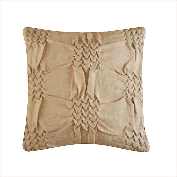 Nitin Goyal Wave Beige 40cm x 40cm Cushion - Pomegranate Living