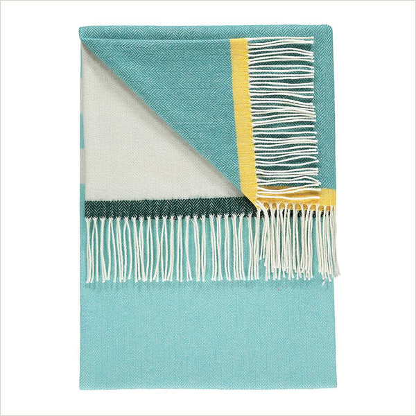 Twig Jessie Teal Throw - Pomegranate Living