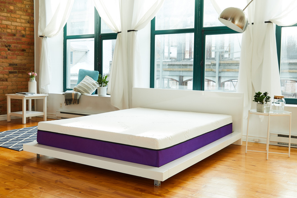 Large view of the Polysleep mattress in an apartment
