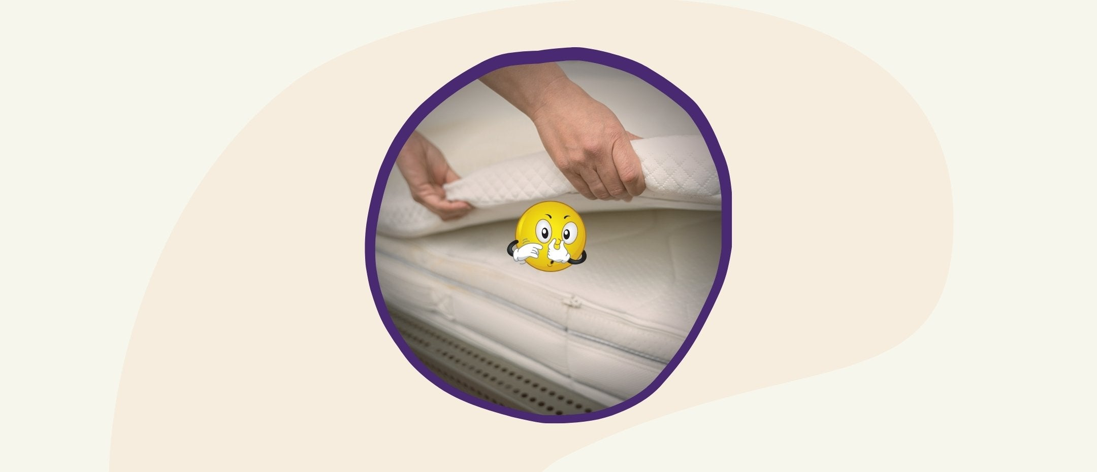 Mr. Emoji hates the smell of that mattress topper