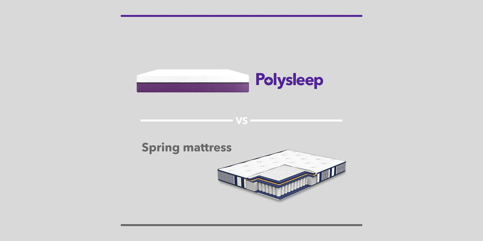 Illustration of a spring mattress and a Polysleep mattress