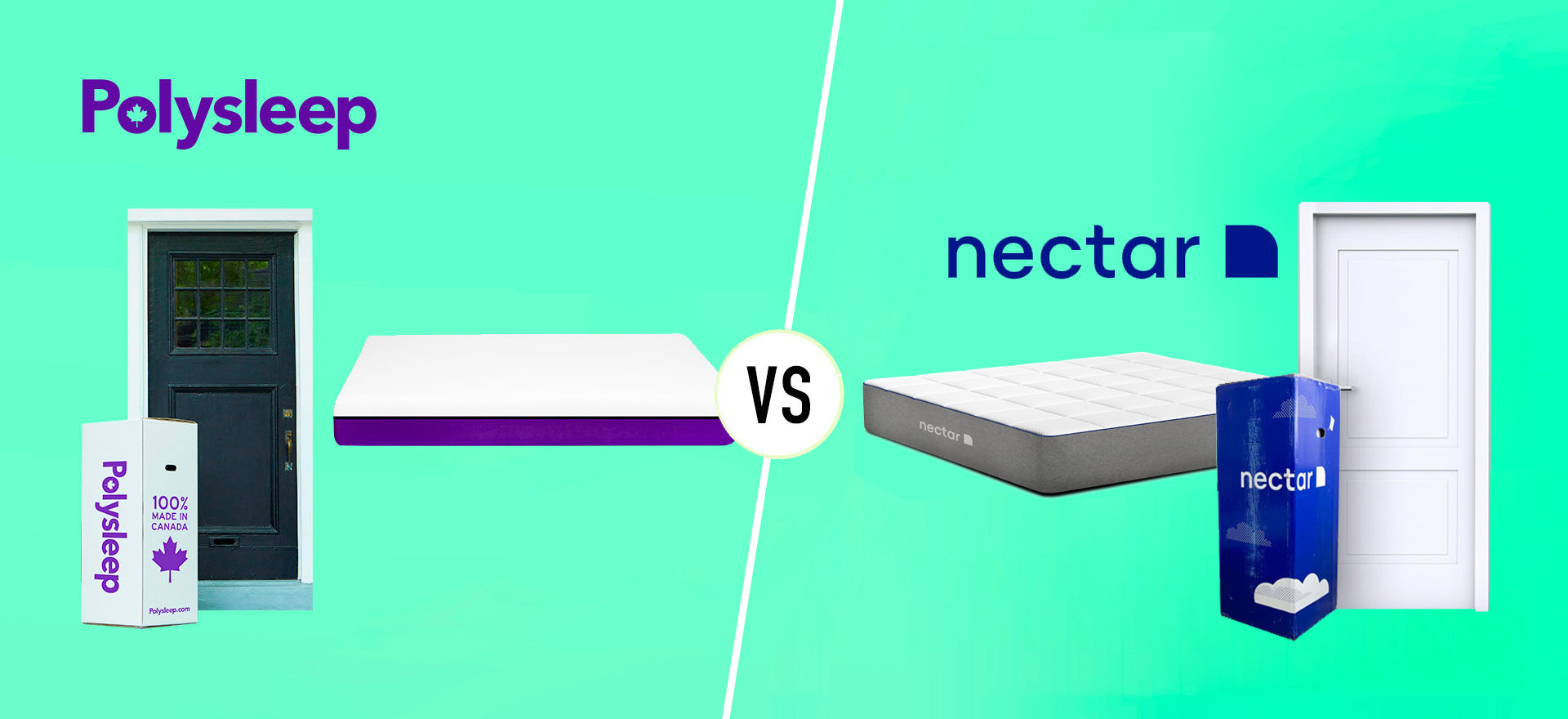 Comparison between the Nectar mattress and the Polysleep mattress