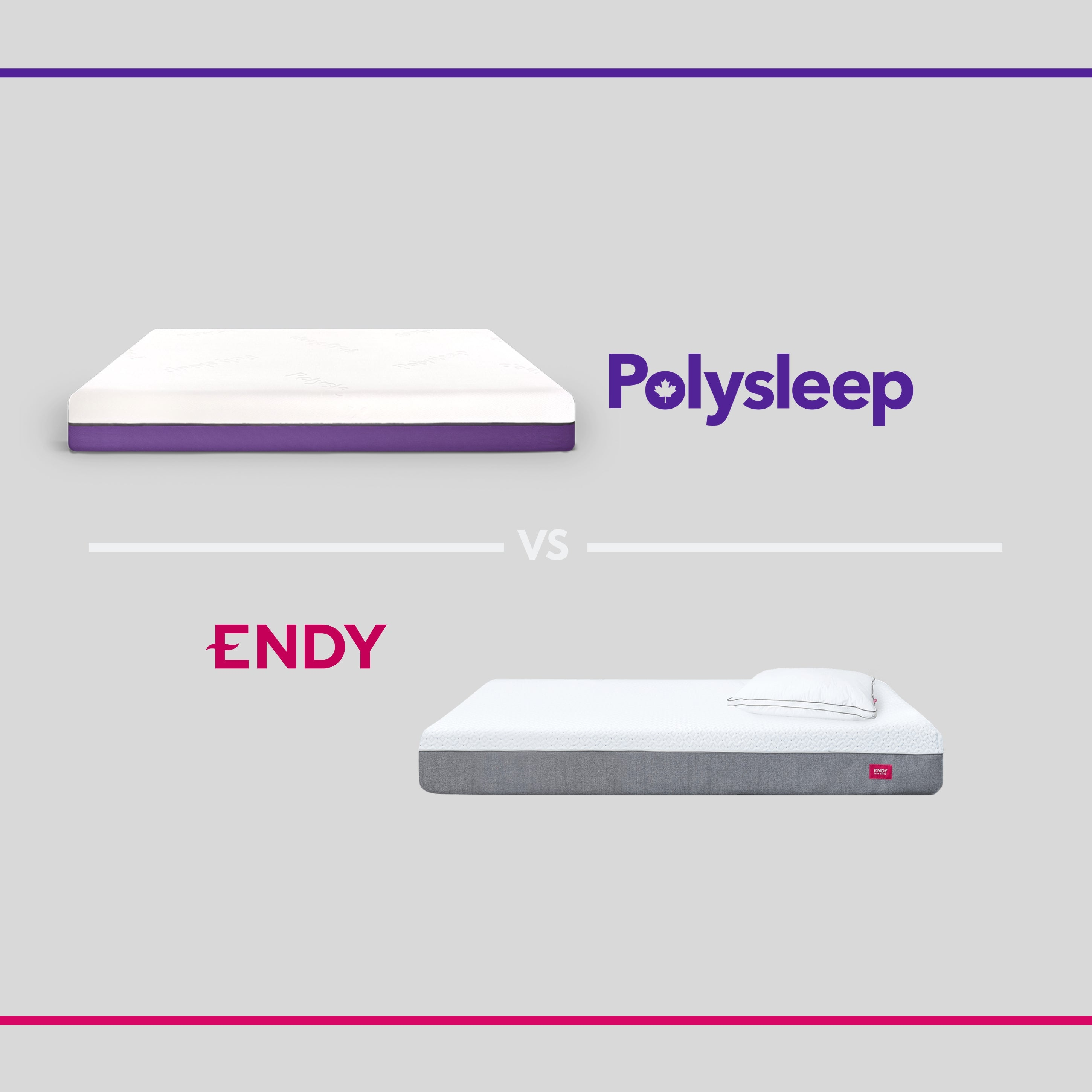 Illsutration of the Endy mattress and the Polysleep mattress