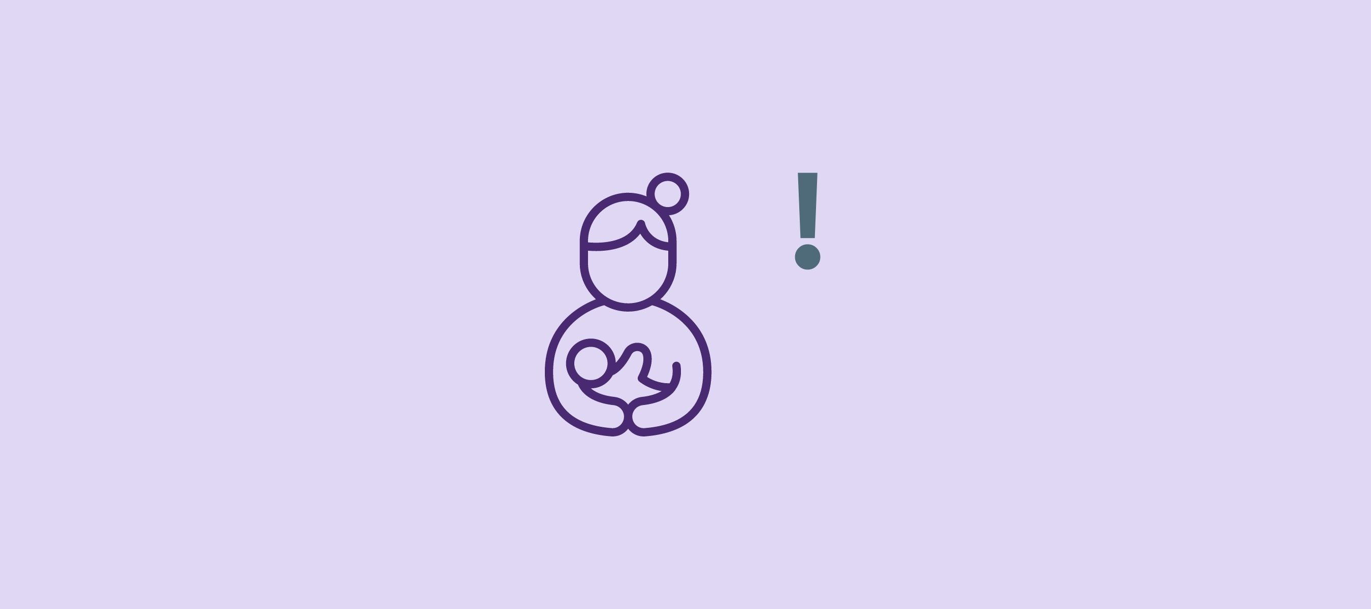 Exclamation mark about the disadvantages of breastfeeding to put your baby to sleep