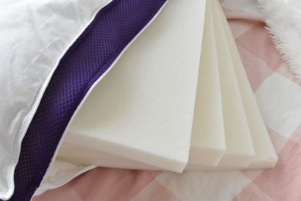 The different foam layers of the Polysleep pillow