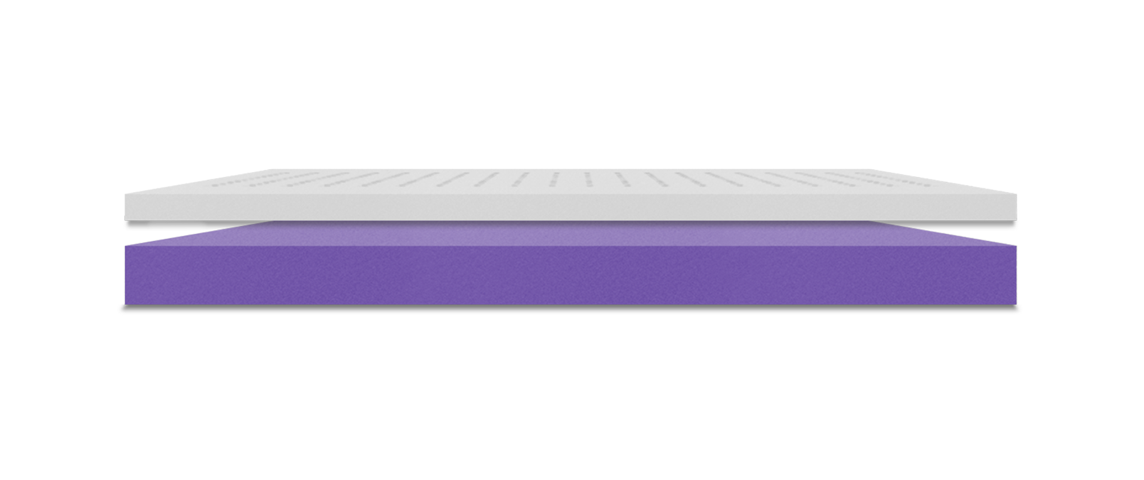 The Polysleep Origin Mattress inside view of the two layers, the firm top layer and the supportive foam Base