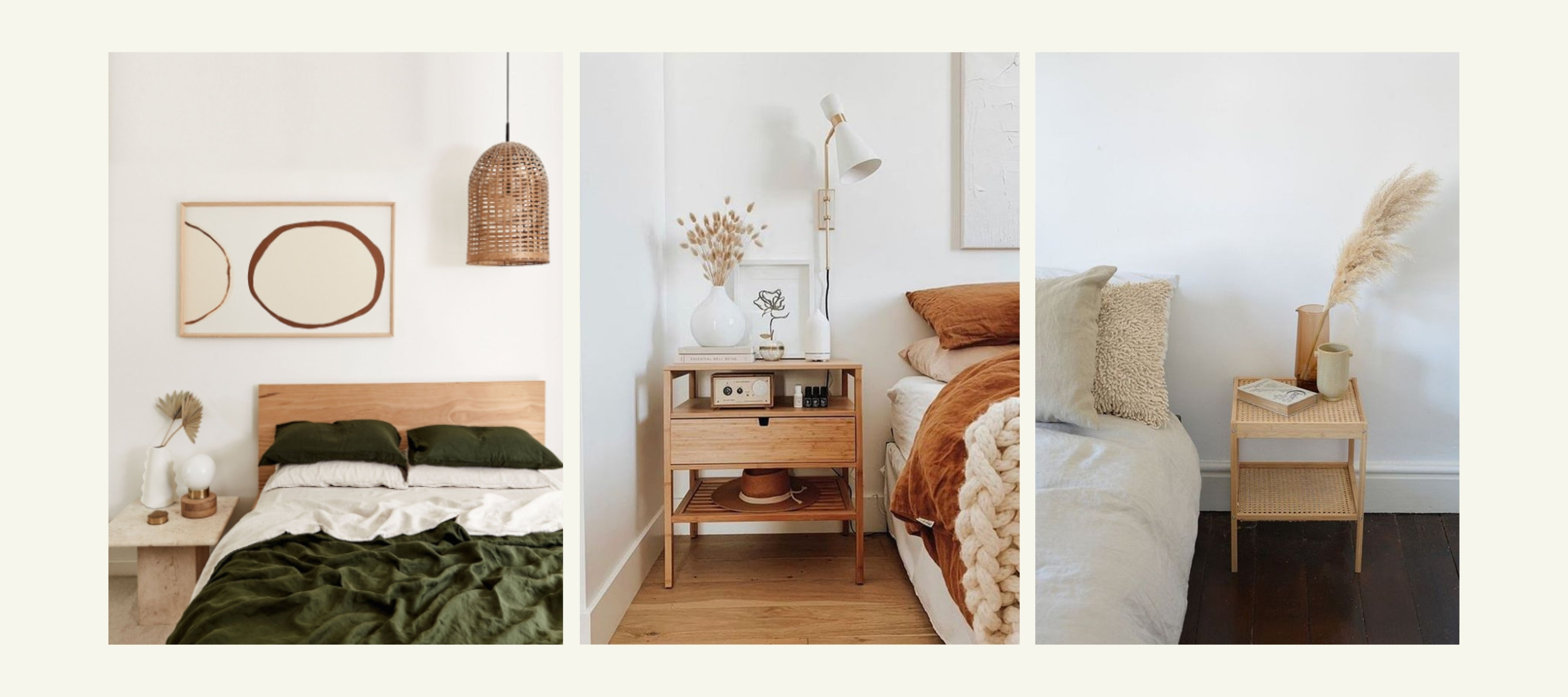 How to Make Your Room Look Good Without a Bed Frame with Bedside Table