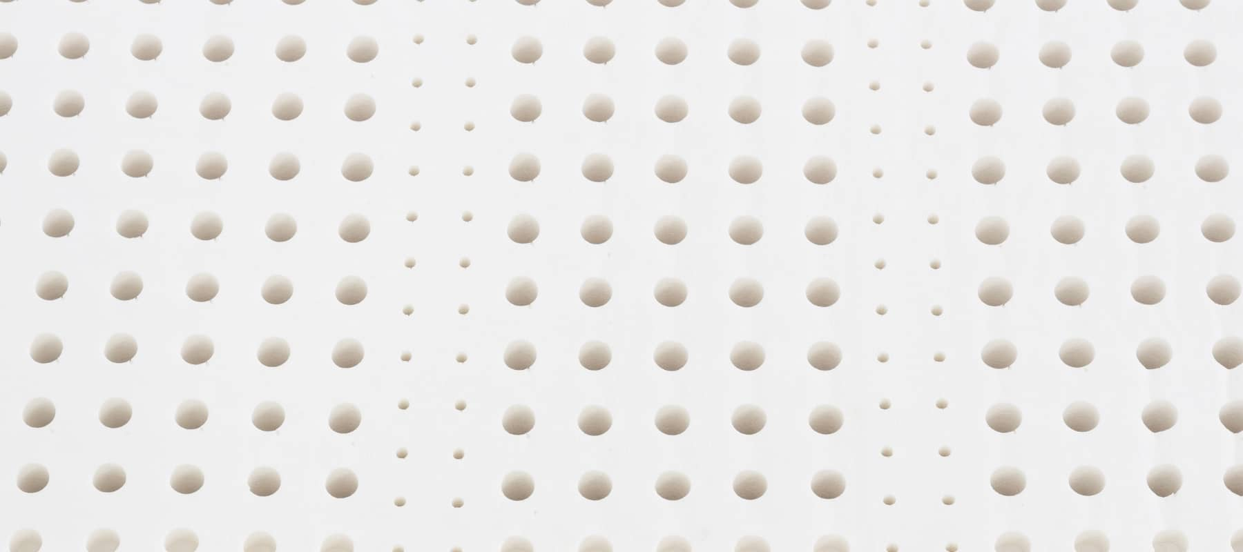 Close up on the material inside a latex mattress