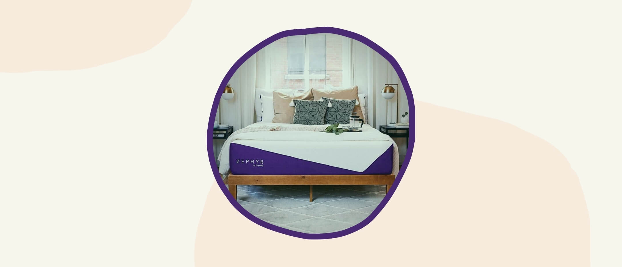 The Polysleep Zephyr bed in a bedroom