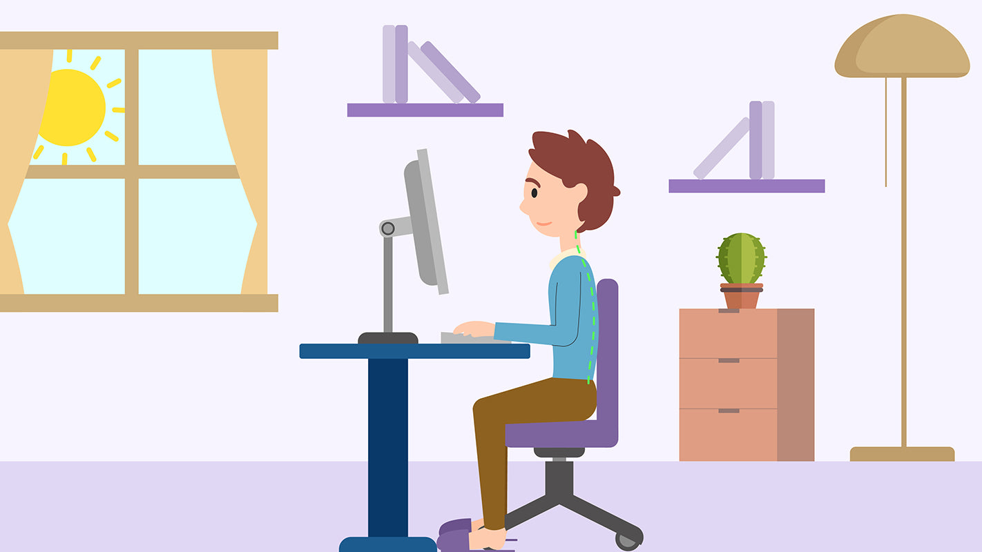 Right posture when working from home.