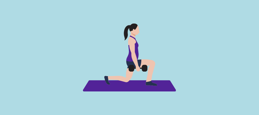 Lunges workout routine.