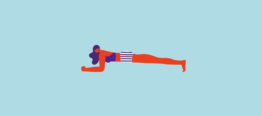Exercise at home plank.