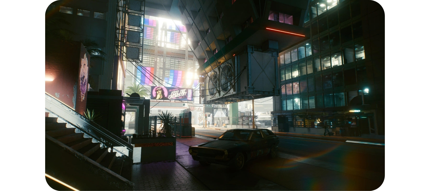 Playing Cyberpunk 2077 for long hours.