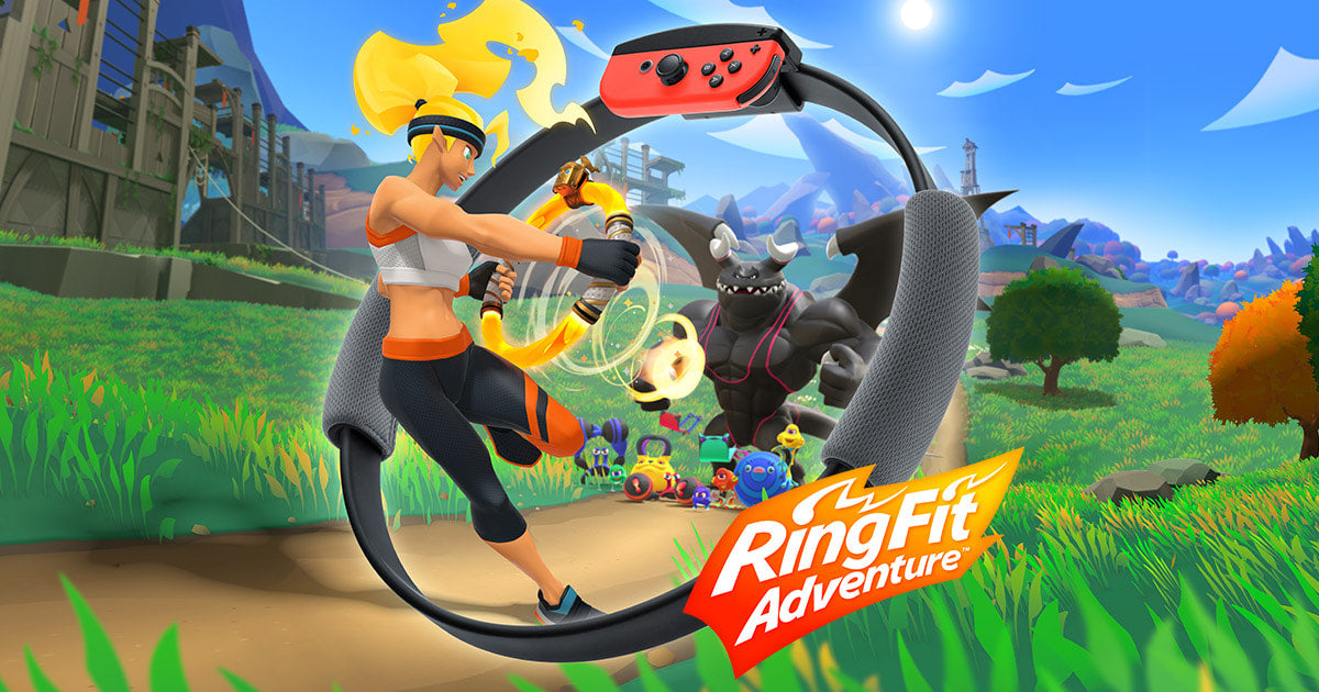 Ring fit adventure fitness game.