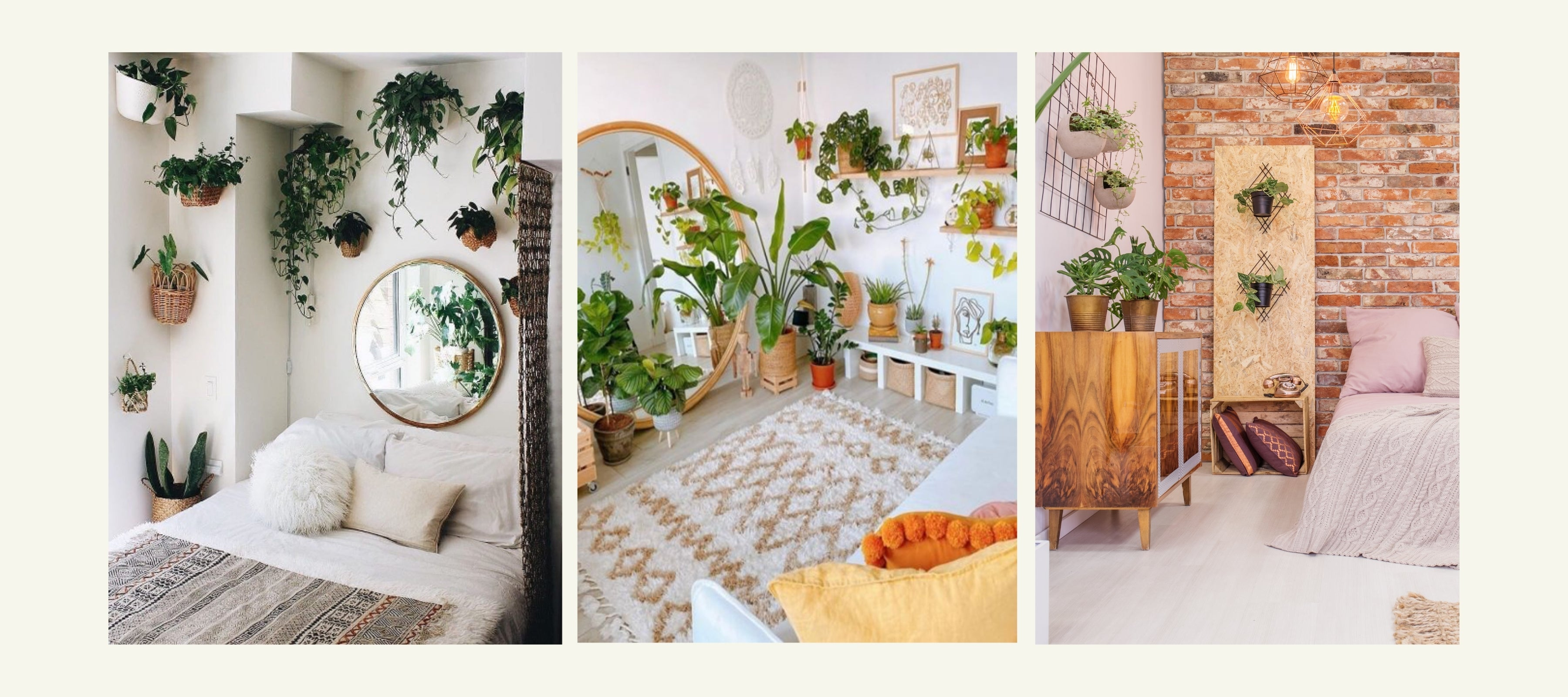 style your bedroom with plants
