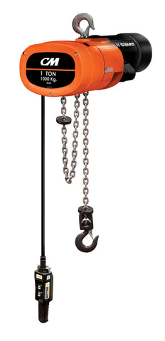 CM Man Guard - 500# (1/4 Ton), Single Spd - Chain/Electric, Lift - 10ft. Lft Spd - 32 fpm