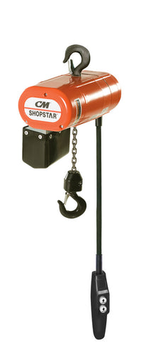 2112 - CM ShopStar - 1000# (1/2 Ton), Single Spd - Chain/Electric, Lift - 10ft. Lft Spd - 6 fpm