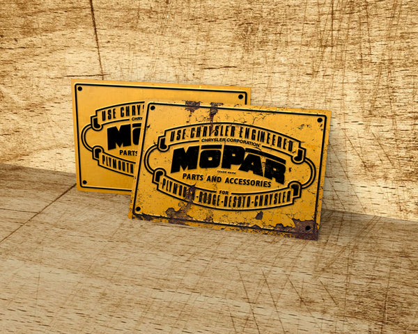 Mopar metal sign