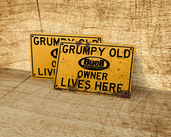 Grumpy old Cadillac owner lives here metal sign