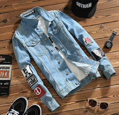 Bad Boy Street Jean Jacket W/ Artwork Sleeves