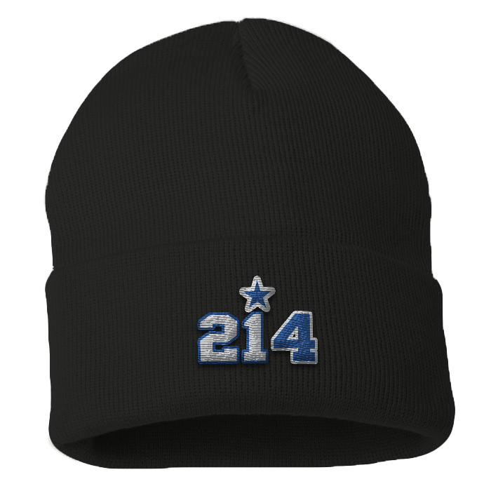 "City of Dallas ""214"" Dak  Zeke Beanie"