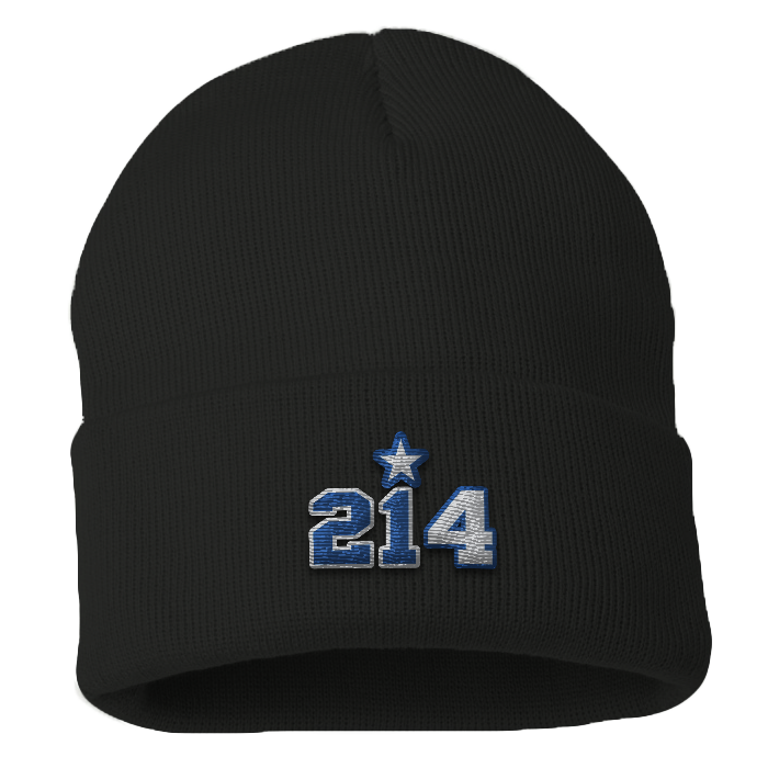 "City of Dallas ""214"" Zeke Beanie"