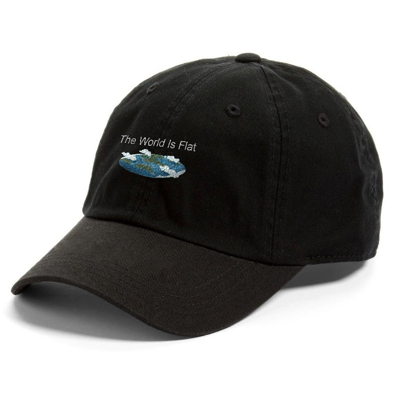 The World Is Flat Black Dad Hat