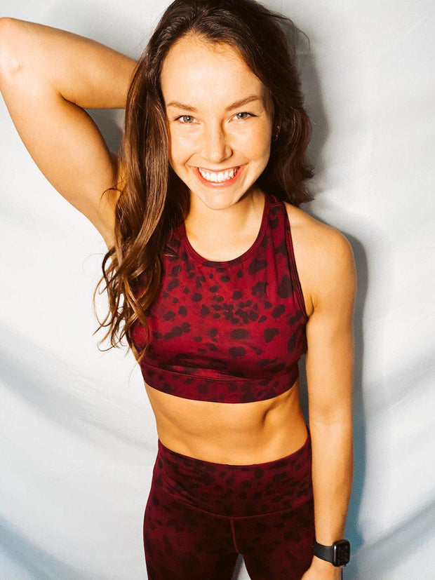 Micah Sports Bra - Spotted Mahogany-Layers-[option4]-[option5]-[option6]-Shop-Womens-Boutique-Store