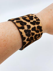 Cheetah Print Cuff Bracelet-Accessories-Large-[option4]-[option5]-[option6]-Shop-Womens-Boutique-Store