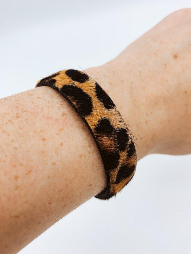 Cheetah Print Cuff Bracelet-Accessories-Medium-[option4]-[option5]-[option6]-Shop-Womens-Boutique-Store