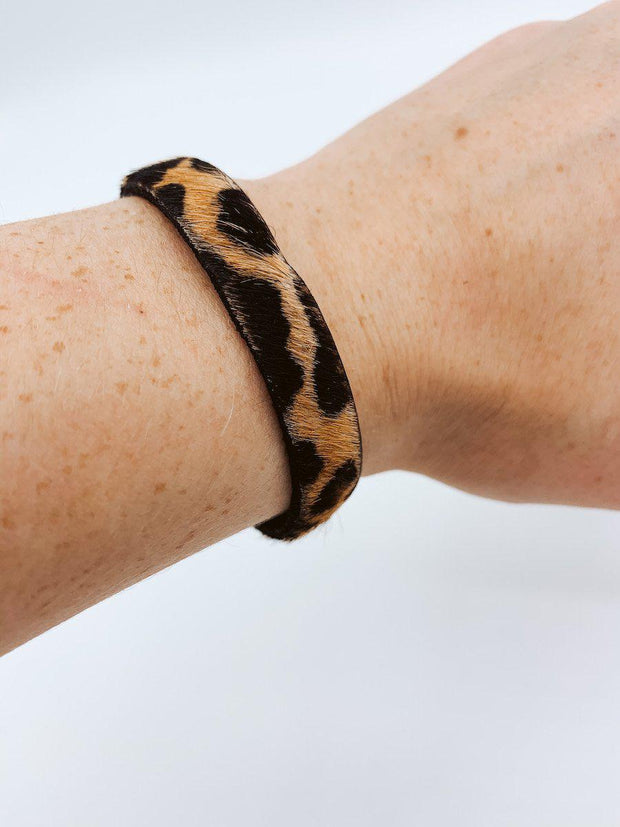 Cheetah Print Cuff Bracelet-Accessories-Small-[option4]-[option5]-[option6]-Shop-Womens-Boutique-Store