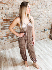Dusty Mauve Velvet Jumpsuit-Jumpsuits-[option4]-[option5]-[option6]-Shop-Womens-Boutique-Store