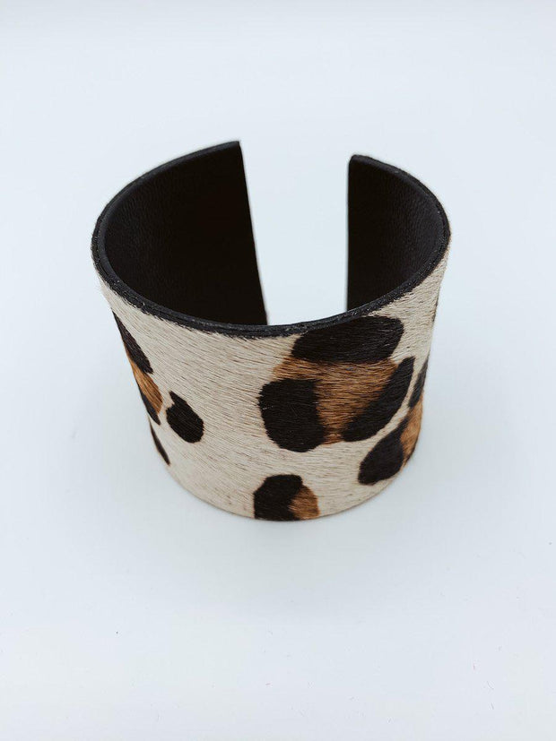Snow Leopard Cuff Bracelet-Accessories-[option4]-[option5]-[option6]-Shop-Womens-Boutique-Store