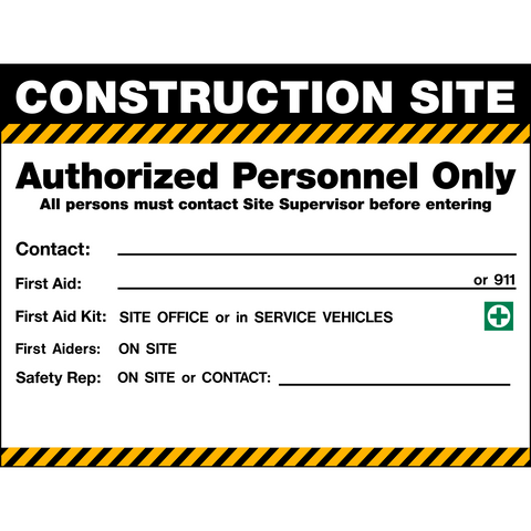 Site Access & Safety Signs