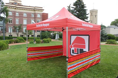 custom tents, custom banners, logo table clothes, easel signs