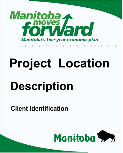 Project Description Signs, custom site identifying signs