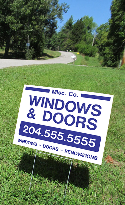 lawn sign, h-wire stand, coroplast signs