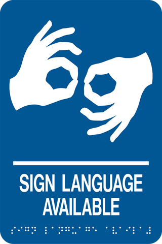 Sign Language Available D