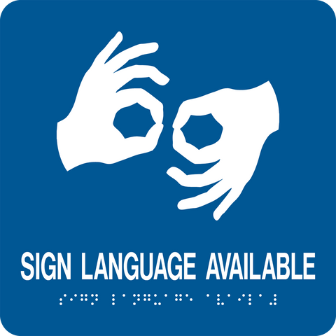 Sign Language Available large D