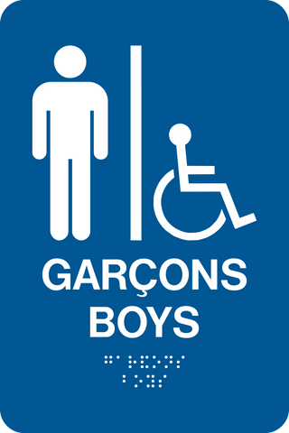 Boys Accessible Washroom D- Bilingual