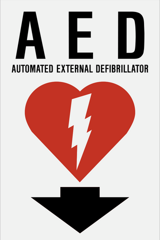 Automated External Defibrillator K Western Safety Sign