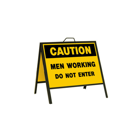 Caution Men Working Do Not Enter 24x18
